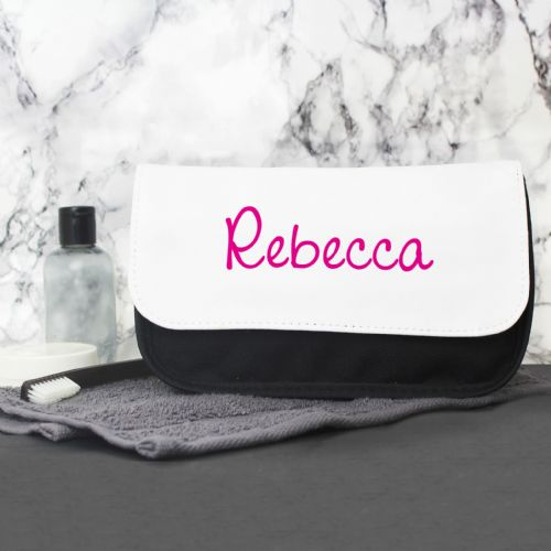 Personalised Pink Island Make Up Bag